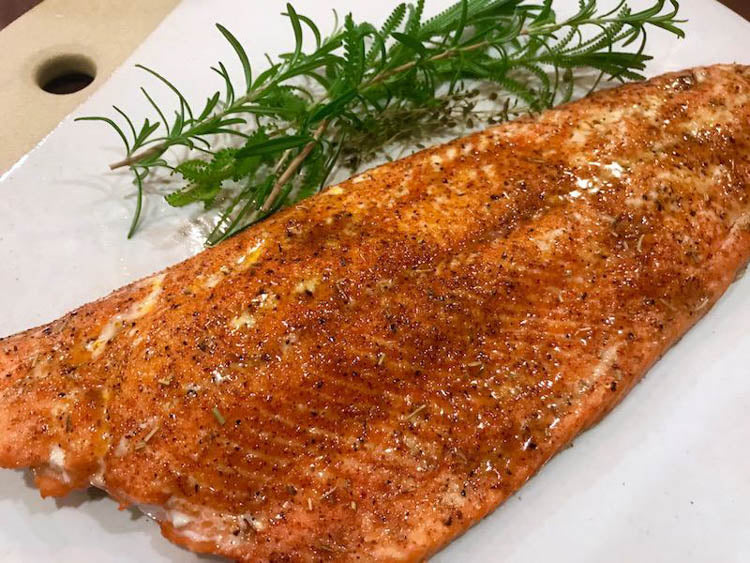 Broiled Maple Salmon Fillet