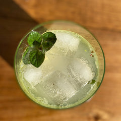 SKORDO: Cardamom, Mint and Lime Leaf Cocktail
