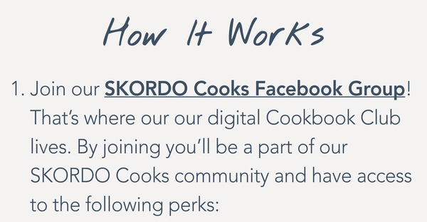 SKORDO Facebook Group - Cookbook Club - SKORDO Cooks
