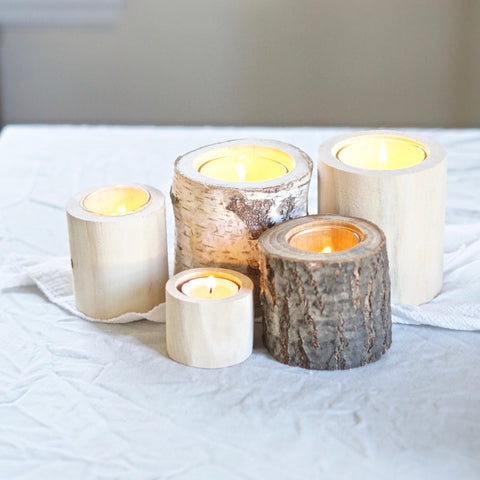 Birch Tealights, Set of 5