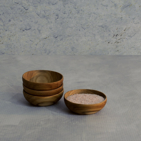 Teak Small Bowls - Set of 4-Accessories-SKORDO