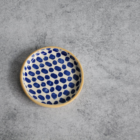 Terrafirma Ceramics - Cobalt Dot Coaster-Accessories-SKORDO