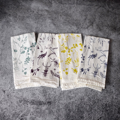 Mixed Wildflower Napkins - Set of 4-Accessories-SKORDO