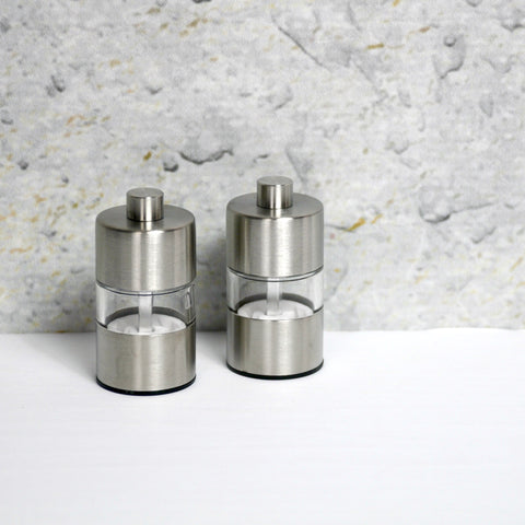 Stainless Steel Mini Salt & Pepper Mills - Set of 2-Accessories-SKORDO