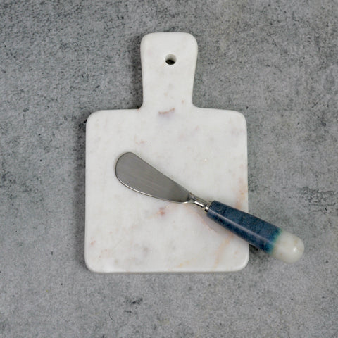 White Marble Square Board with Handle-Accessories-SKORDO