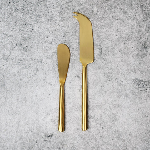 Matte Gold Cheese Knife-Accessories-SKORDO
