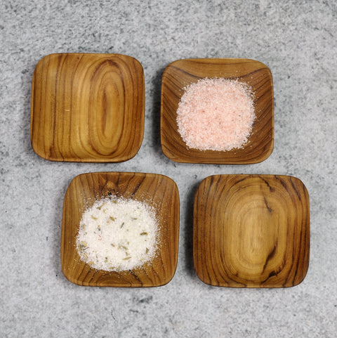 Teak Square Bowls - Set of 4-Accessories-SKORDO
