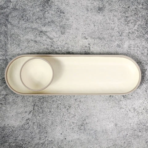 Potter Stone Long Oval Platter