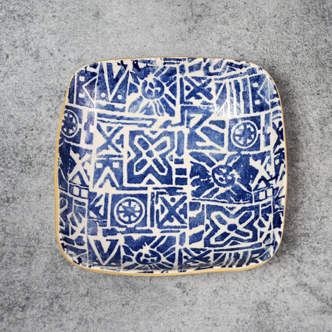 Terrafirma Ceramics - Cobalt Jazz Square Bowl