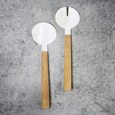 Bamboo & Seashell Serving Set