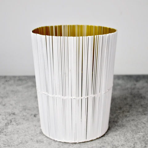 White and Gold Utensil Holder