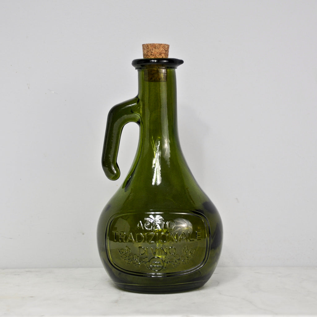 Vintage Green Recycled Glass Carafe