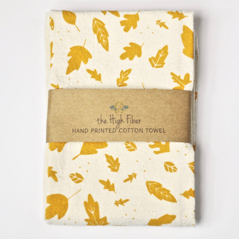 Tea Towel - Gold Leaves