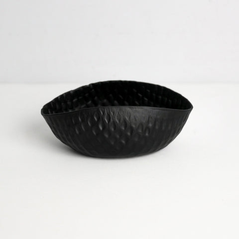 Black Crosshatch Aluminum Bowl