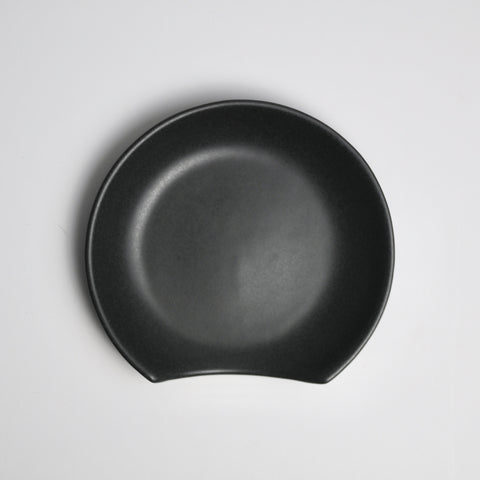 Stoneware Spoon Rest - Jet Black