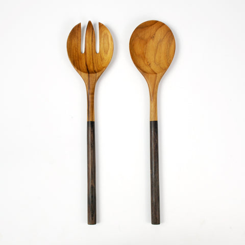 Dipped Teak Serving Set