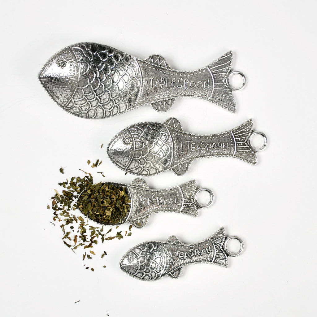 Pewter Fish Measuring Spoons