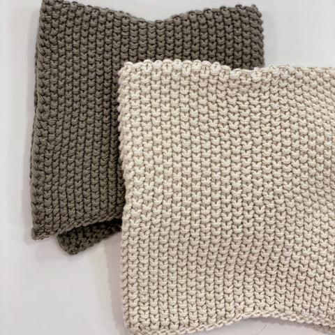 Knit Dish Cloths - Set of 2