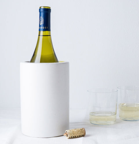 Concrete Wine & Utensil Holder - White-Accessories-SKORDO