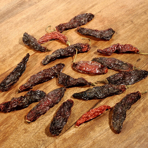 Serrano Peppers - Dried-Ingredients-SKORDO