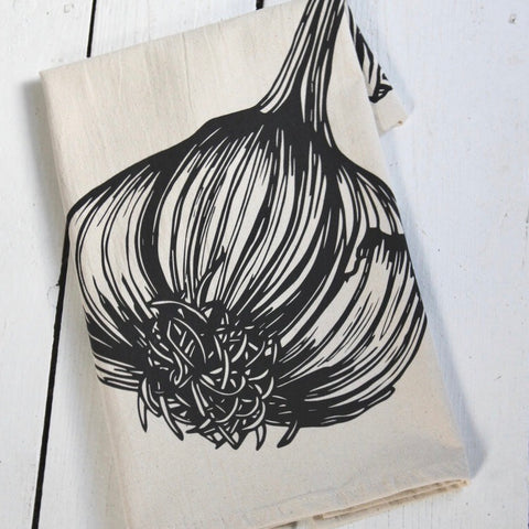 Black Garlic Tea Towel