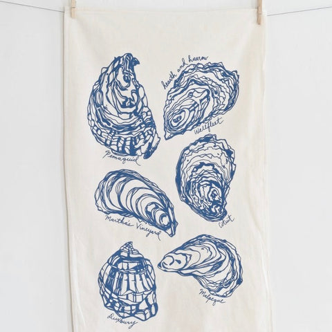 Oyster Tea Towel - Blue