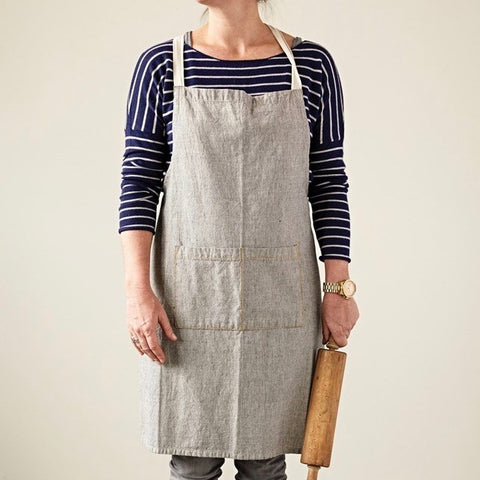 Chambray Apron - Black & White Check