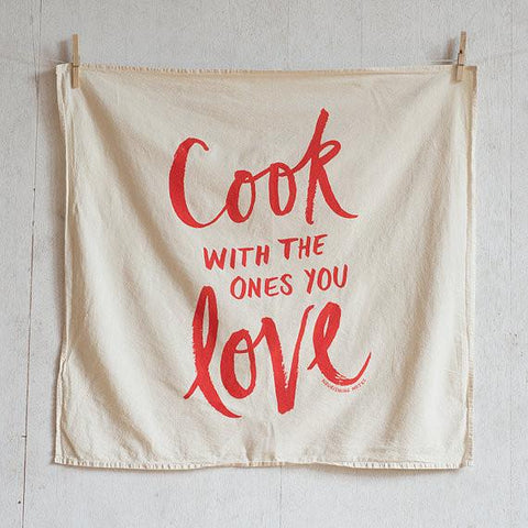 Cook With The Ones You Love Tea Towel-Accessories-SKORDO