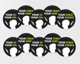 """Your Child Your Choice"" 10-Pack of Stickers"