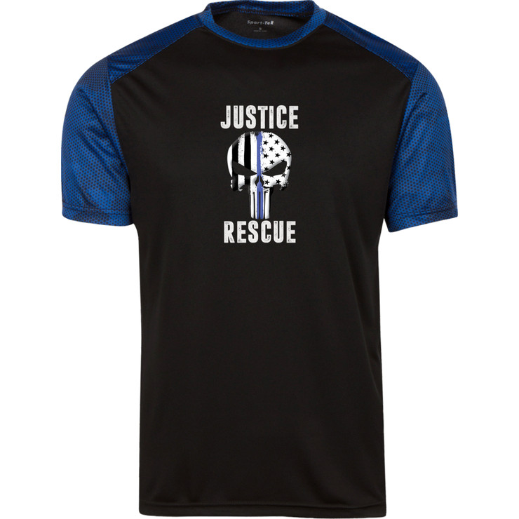 Justice Rescue Skull CamoHex Colorblock T-Shirt