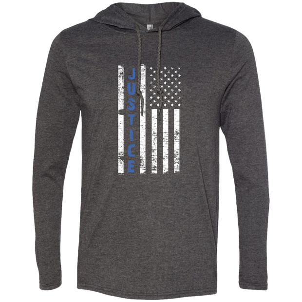 Blue Line Long Sleev T-Shirt Hoodie