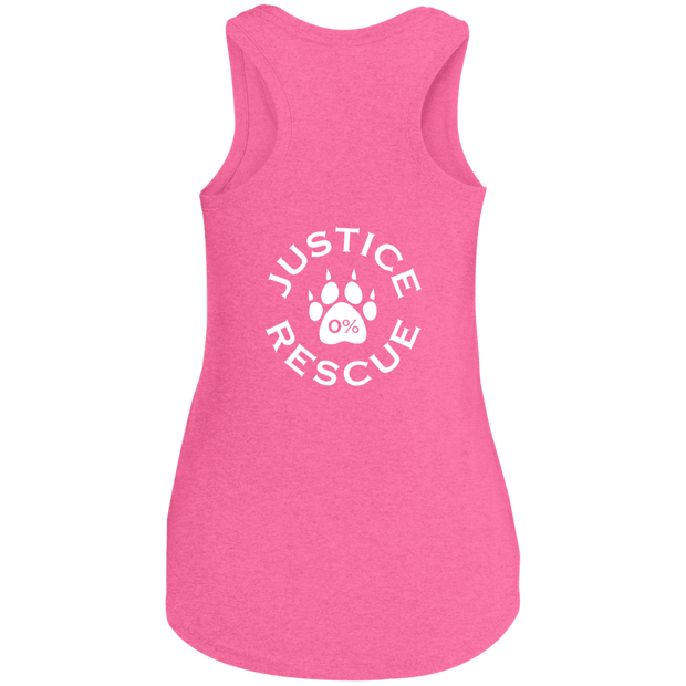 Dog Mom Ladies Perfect Tri Racerback Tank