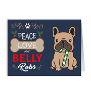 Peace Love and Belly Rubs Holiday Folded Card