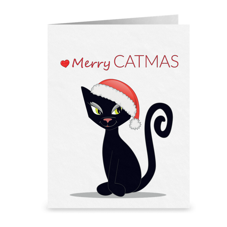 Merry Catmas Folded Holiday Cards