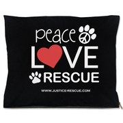 Peace, Love, Rescue Dog Bed