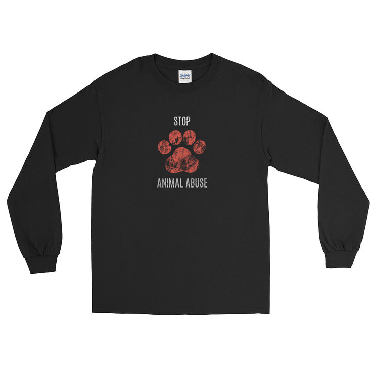 Stop Animal Abuse Long Sleeve T-Shirt