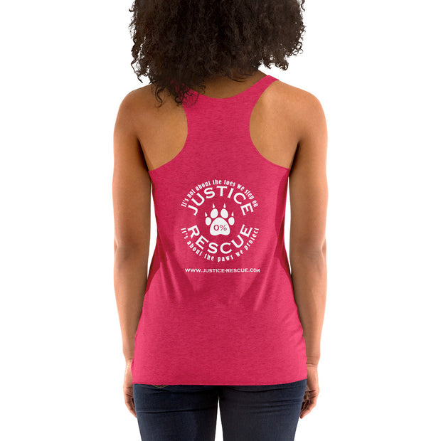 Patriotic Dog Women's Racerback Tank