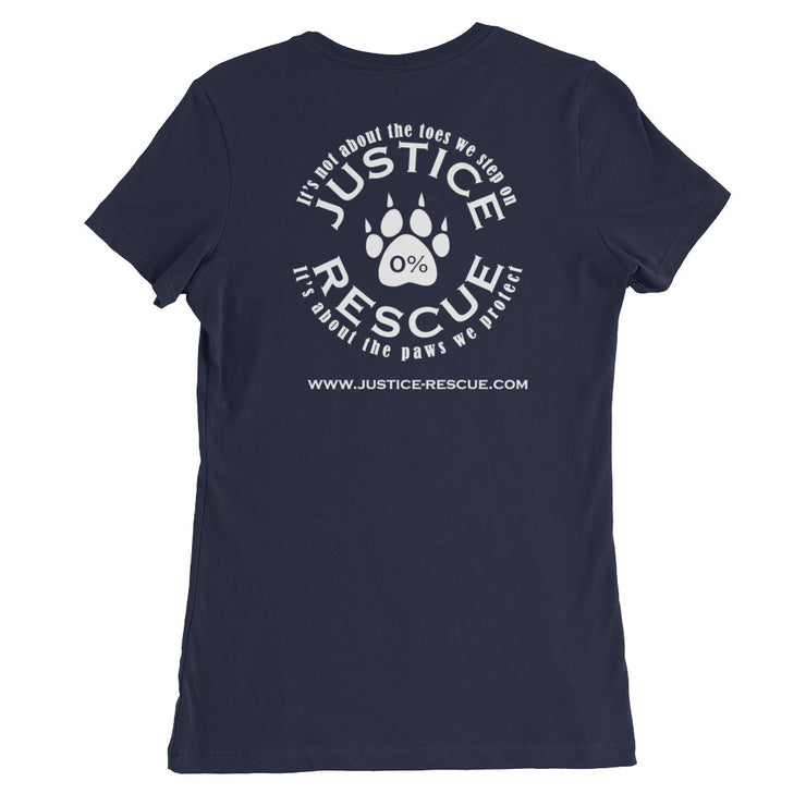 """Rescued Is My Favorite Breed"" Women's Slim Fit T-Shirt - Multiple Colors Available"