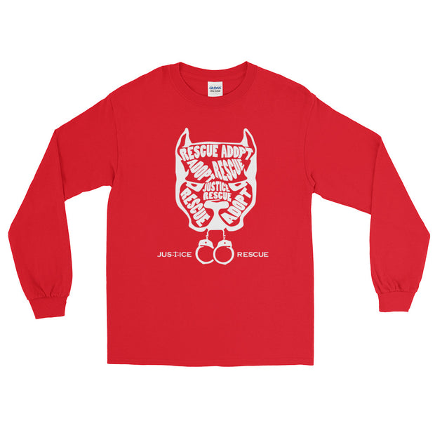 Pitbull Head Long Sleeve Unisex T-Shirt - Multiple Colors Available