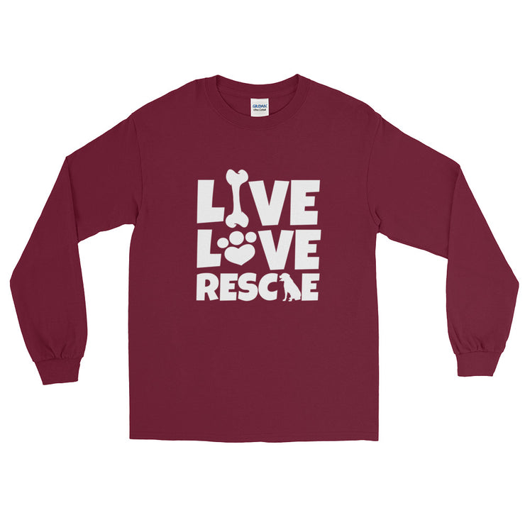 """Live Love Rescue"" Long Sleeve Unisex T-Shirt - Multiple Colors Available"