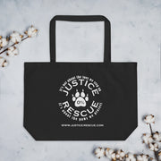 Peace, Love, Rescue Large organic tote bag