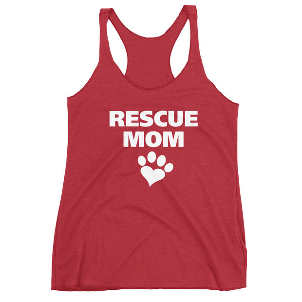 """Rescue Mom"" Women's Racerback Tank - Multiple Colors Available"