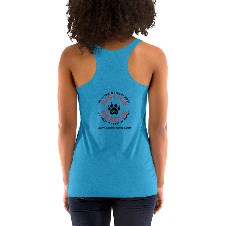 Dogs Before Dudes Women's Racerback Tank