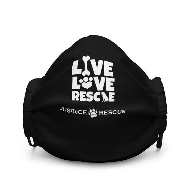 Live Love Rescue Premium Face Mask