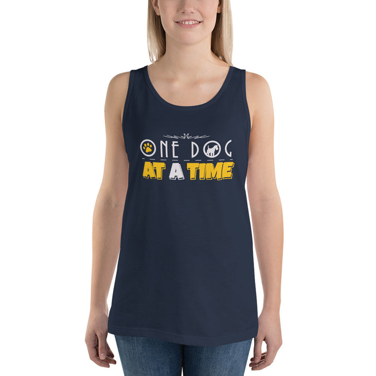 One Dog At A Time Unisex  Tank Top