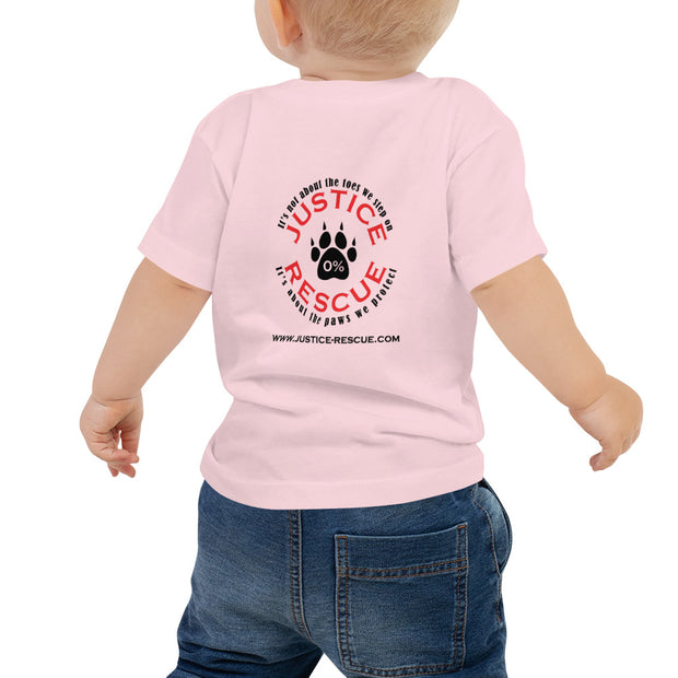 My Big Sister Barks Baby Jersey Short Sleeve Tee