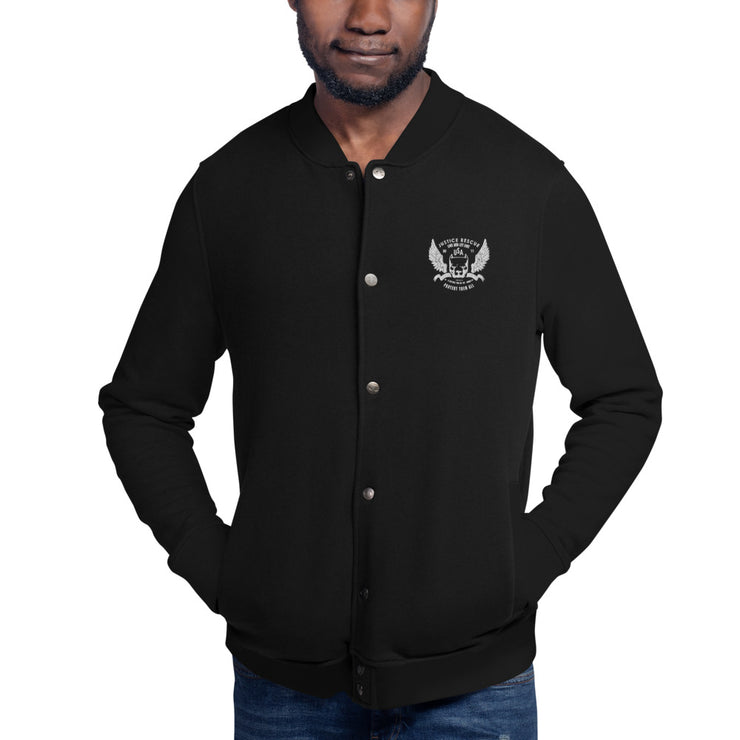 Justice Rescue Embroidered Champion Bomber Jacket
