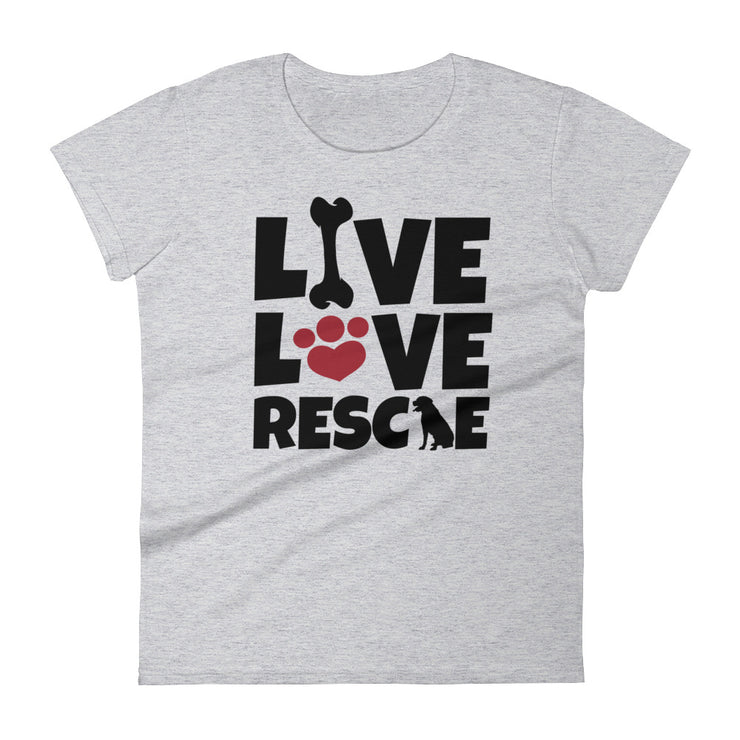 """Live, Love, Rescue"" Women's short sleeve t-shirt"