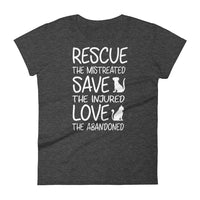 """Rescue The Mistreated"" Women's short sleeve t-shirt"