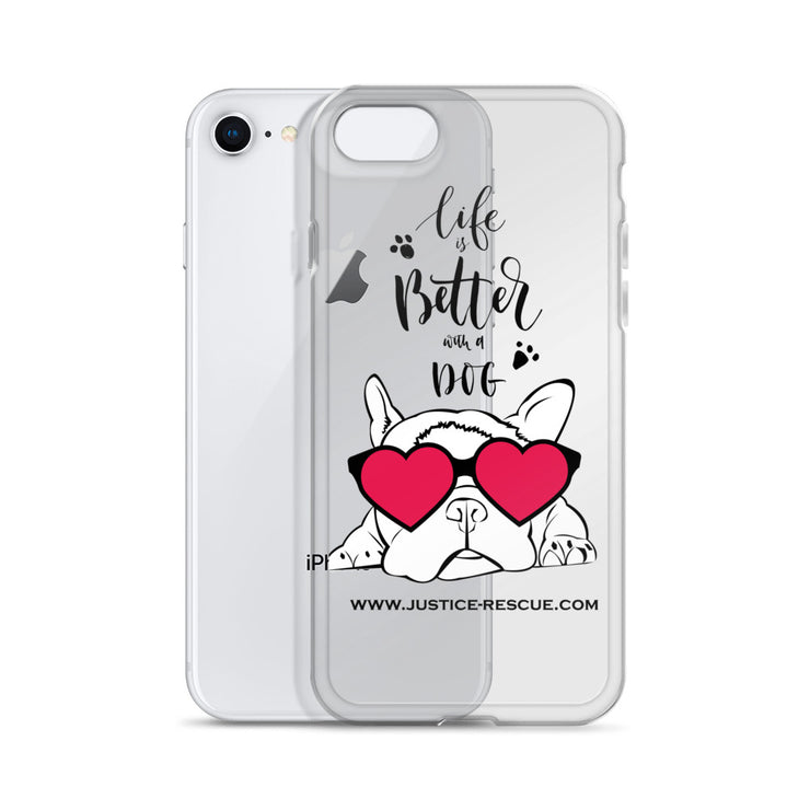 """Life Is Better With A Dog"" iPhone Case"